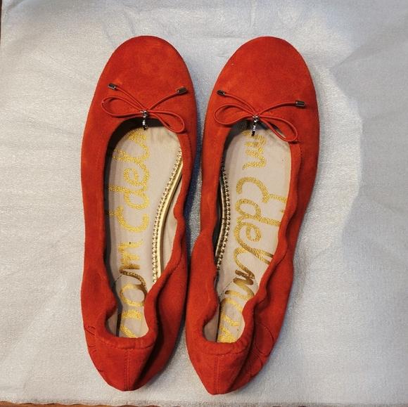 Sam Edelman Shoes - Sam Edelman Felicia Ballet Flats in Orange Suede